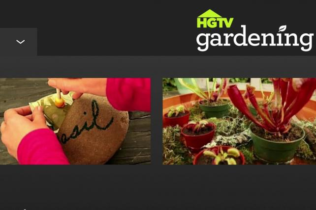 The HGTV Gardening Watch and Shop App.