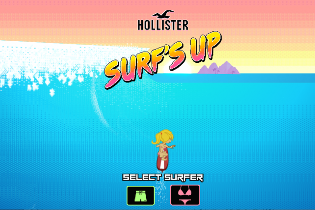 Hollister debuts a video game.