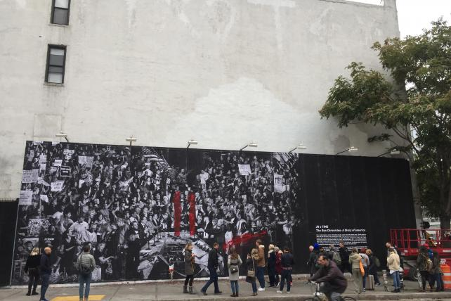 Street mural of Time's 'Guns in America' cover gets a heartbreaking update