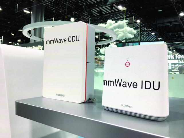 Huawei introduced fixed wireless devices at Mobile World Congress.