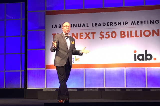'This is about for-profit ad blockers,' said IAB CEO Randall Rothenberg at the trade org's Annual Leadership Meeting.