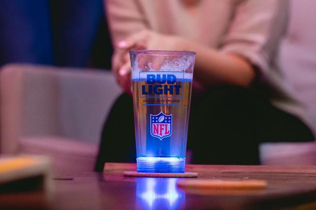 Bud Light's NFL Beer Glasses Light Up After Touchdowns
