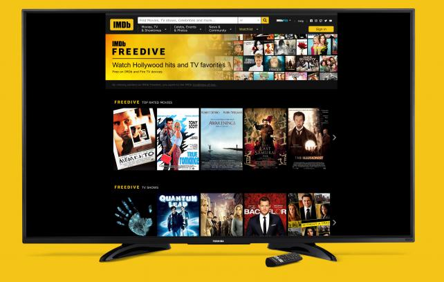 Amazon's IMDb Launches Free Movie and TV Streaming Service