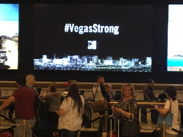 Tourists checking in at the MGM Grand in Las Vegas.