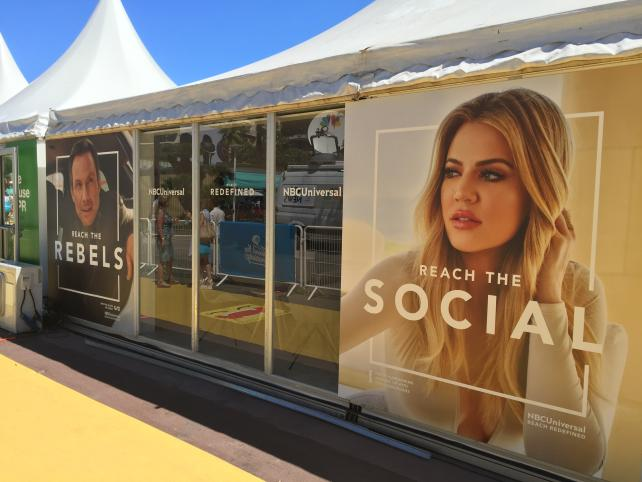 The NBC Universal cabana at Cannes.