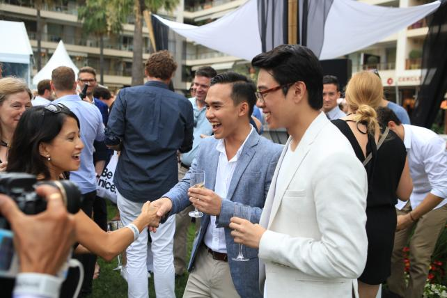 2017 Young Creatives Cover Competition Winners at the Ad Age Cannes Lawn party.