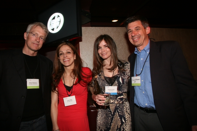 Steve Simpson, Lori Aloi of Hungry Man, Creativity's Teressa Iezzi and David Roman