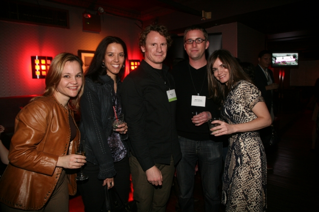 AdAge Group associate publisher Allison Arden, Kris Kiger, Nick Law and Matt Helland of R/GA and Teressa Iezzi