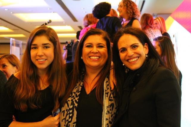 Google's Olga San Jacinto (center) with daughter Sofia (left), and Alejandra Villarreal, of Henkel.