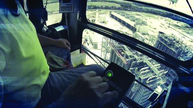 Modern equipment uses joystick technology.