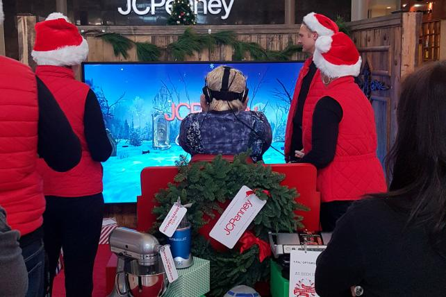 JC Penney uses virtual reality to entice shoppers.