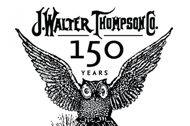 A logo J. Walter Thompson used to celebrate its 150th anniversary in 2014.
