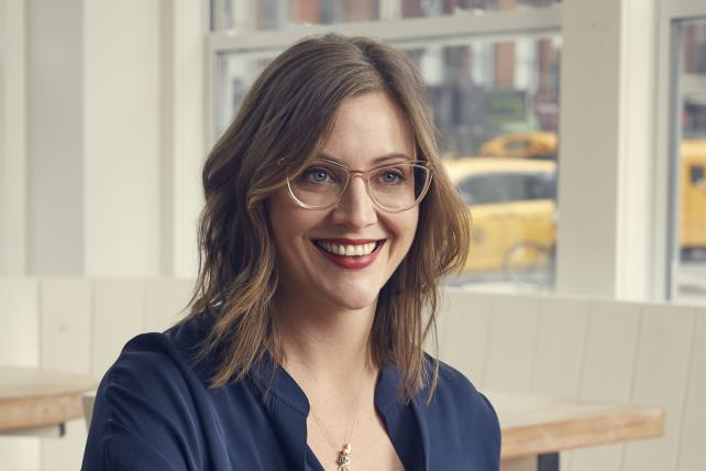 Jackie Jantos, the departing VP for brand and creative at Spotify.