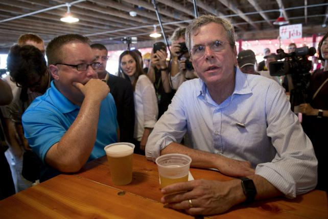 Jeb Bush at the Iowa State Fair.