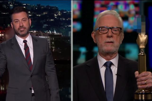 Watch Fake Wolf Blitzer (Jimmy Kimmel's Dad) Accept a (Fake) Fake News Award