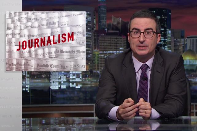 Watch John Oliver Explain Tronc, and Journalism Circa 2016