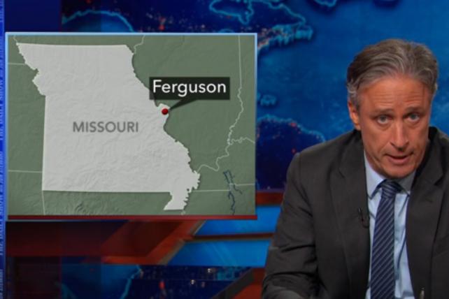 Watch Jon Stewart Take on Fox News' Ferguson Coverage