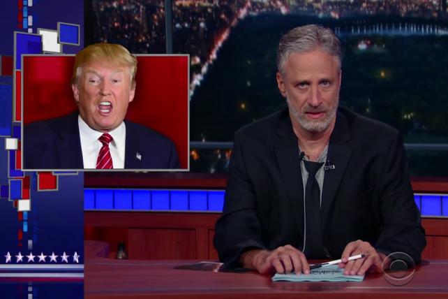 Watch Jon Stewart Take Over Colbert's 'Late Show' Desk