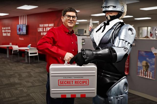 Chicken fight: KFC's Colonel RoboCop vs. Burger King's K.F.G.