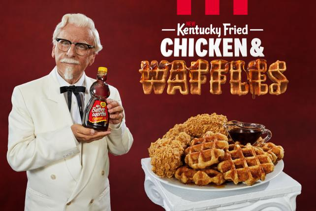 See the spot: KFC's Colonel gets a dance partner to hawk chicken and waffles