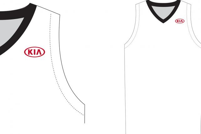 Mockup of Kia branded All-Star Jersey