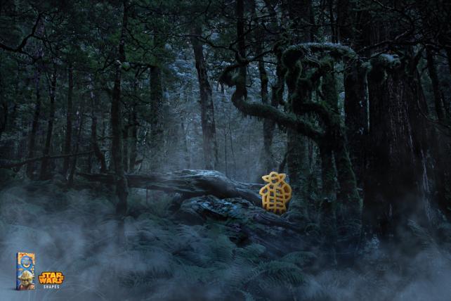 Kraft macaroni and cheese Yoda print ad