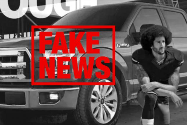 Kaepernick is NOT in a Ford ad, despite what you've read