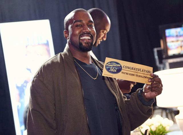 Kanye West drops in on 'American Idol.'