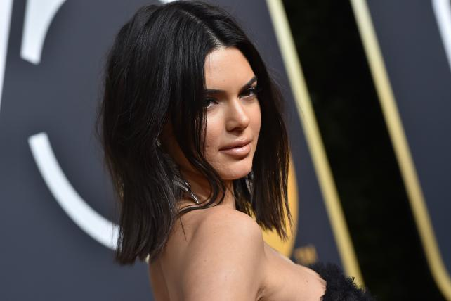 Kendall Jenner at the Golden Globe Awards in January.