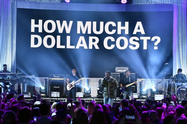 Kendrick Lamar performs at MTV's upfront presentation this month.
