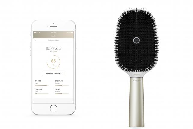 The Kerastase Hair Coach Powered by Withings is a smart hairbrush that will sell for $189.