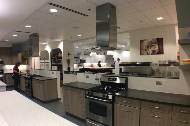 Kraft's test kitchen at its headquarters near Chicago.