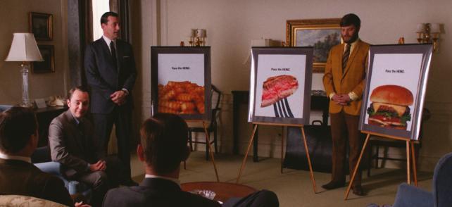 David adopts fictional 'Mad Men' creative director Don Draper's idea for Heinz ketchup.