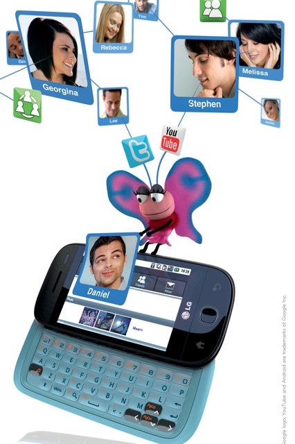 Puppets Promote Social Networking Apps on LG's First Android Smartphone