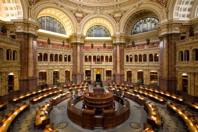 Main reading room at the Library of Congress, Washington, D.C.