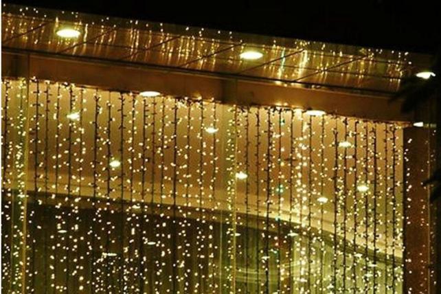 A curtain of lights at Wayfair