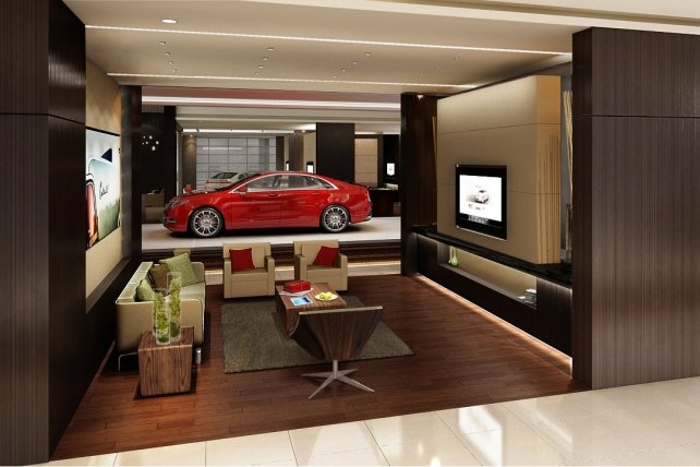 Lincoln wants China dealerships to offer a setting similar to a living room or a five-star hotel lobby.