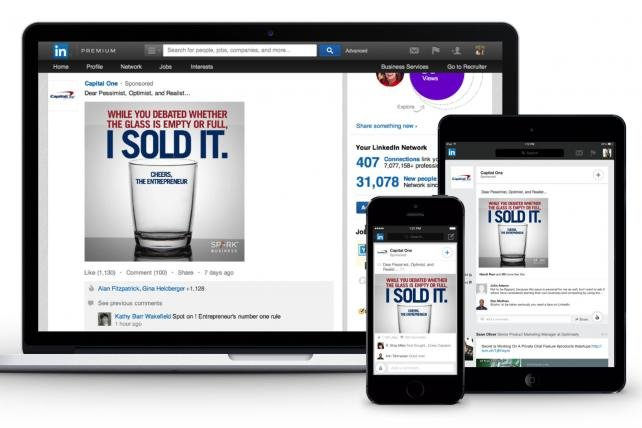 LinkedIn Ad Revenue Soars on Strength of Sponsored Content