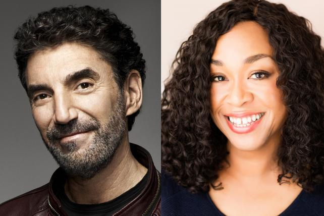 Chuck Lorre and Shonda Rhimes, two of TV's most successful showrunners.