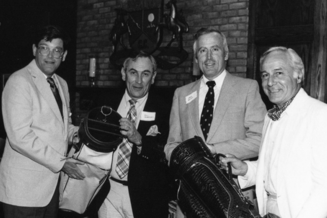 Rance Crain, (far left); Bill Saunders, Spectrum; Paul Reiss, Family Computing; and Lou DeMarco (far right), circa 1986