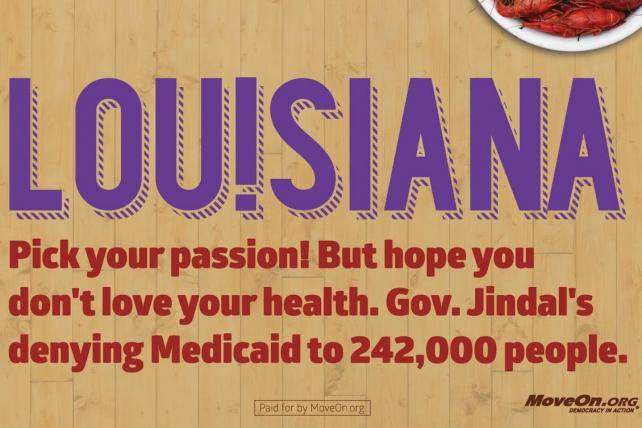 MoveOn billboard in Louisiana