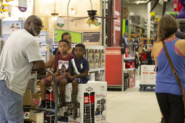 Lowe's customers prep for Florence.