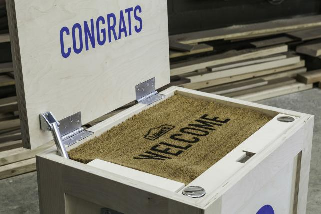 Lowe's sends a surprise to new agencies.