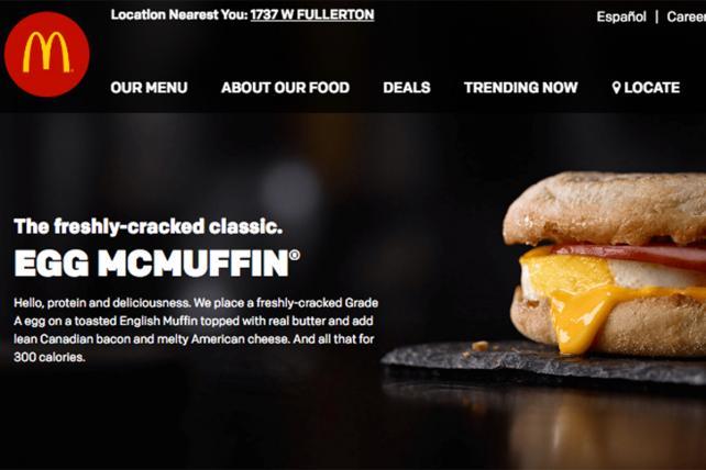 McDonald's Latest 'Modern, Progressive' Update: Its Website