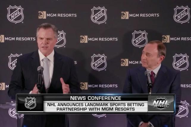Puck yeah: NHL teams up with MGM Resorts in new sports-gambling pact
