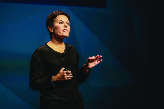 Melisa Goldie speaks at the 2015 ANA Masters of Marketing Conference