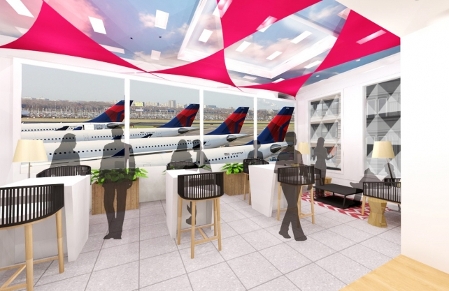 Delta Launches T4 at JFK With 'Pop Up' Terminal, Personalized Billboards
