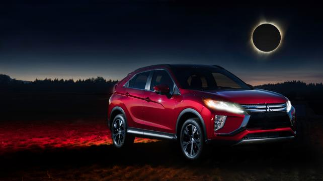 Mitsubishi sought to build buzz for its new 2018 Eclipse Cross compact crossover by linking it to the solar eclipse.