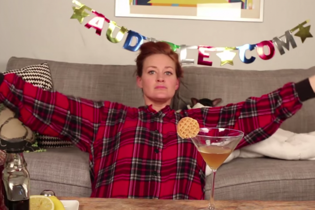 YouTube star Mamrie Hart makes it clear Audible sponsored her video.