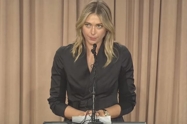 Maria Sharapova Press Conference March 7, 2016.